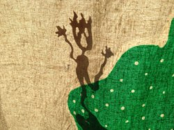 Fire shadow puppet behind the screen