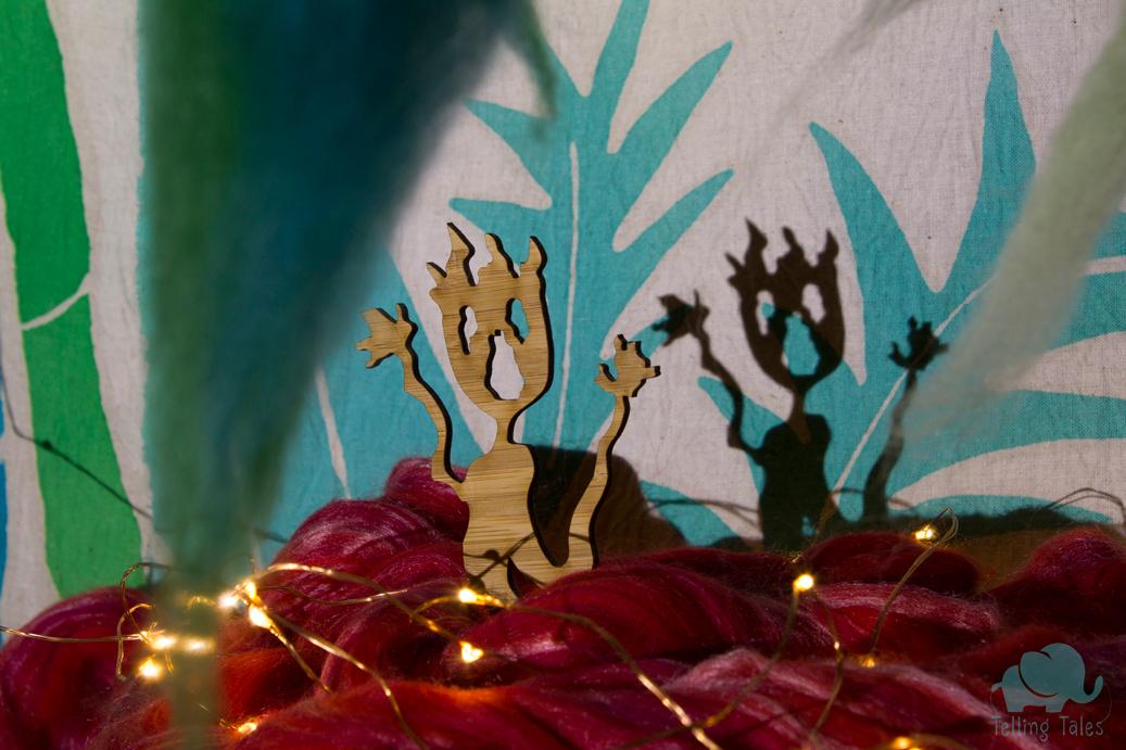 Fire shadow puppet
