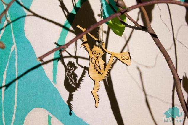 Orangutan shadow puppet