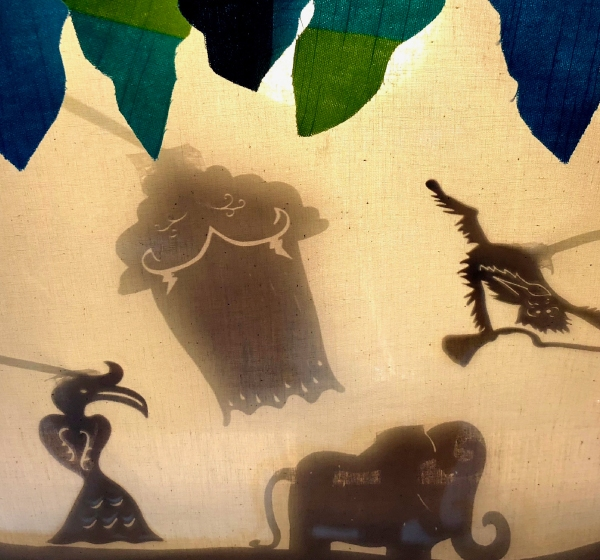 Borneo rainforest shadow play