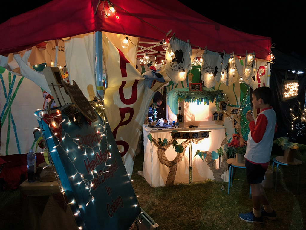 Puppet theatre at the Coburg Night Market