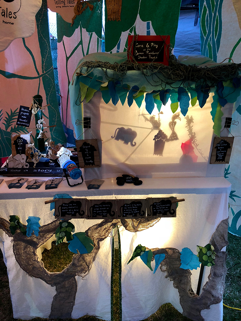 Shadow play booth at the Coburg Night Market