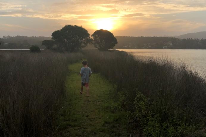 Sunset at wetlands in Eden NSW